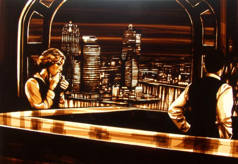 Les tableaux en couches de ruban d'adhésif de Max Zorn