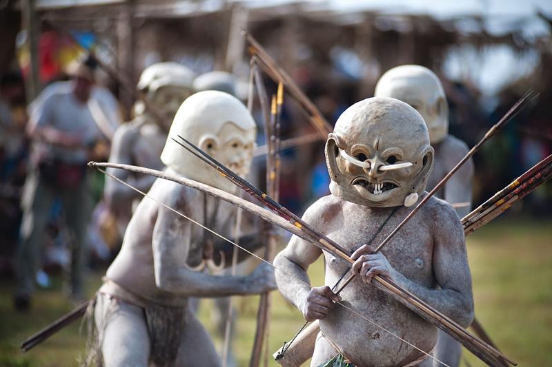 Asaro Mudmen de Nouvelle-Guinée
