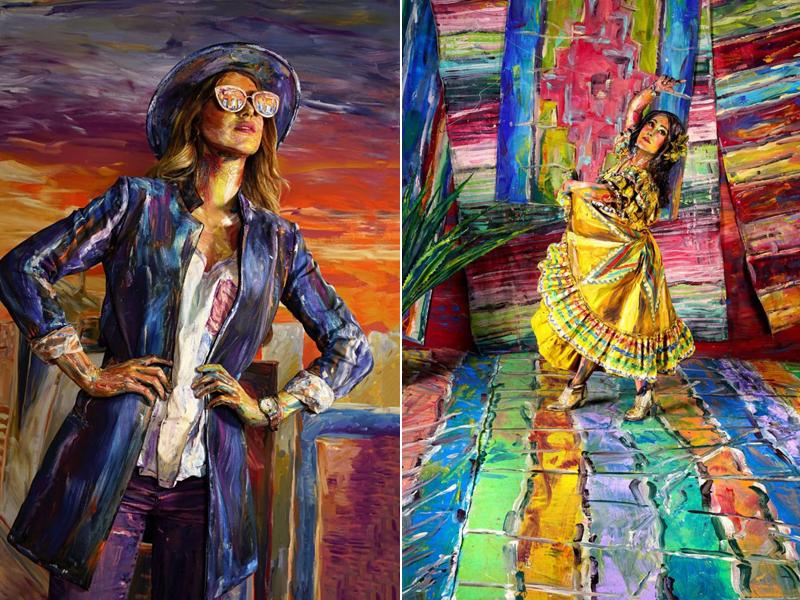 Photo d'illusion de peinture par Alexa Meade