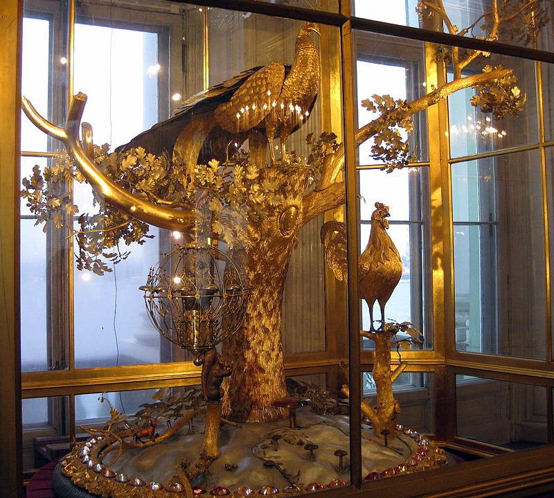 Peacock clock horloge du paon, musée de l'Ermitage