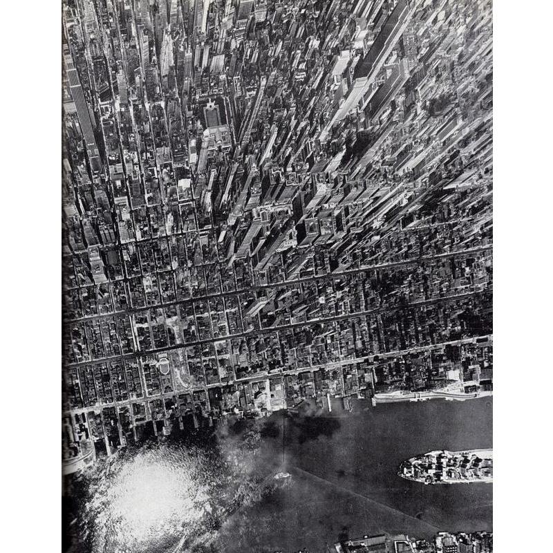 Photo rétro et aérienne de Manhattan en 1944