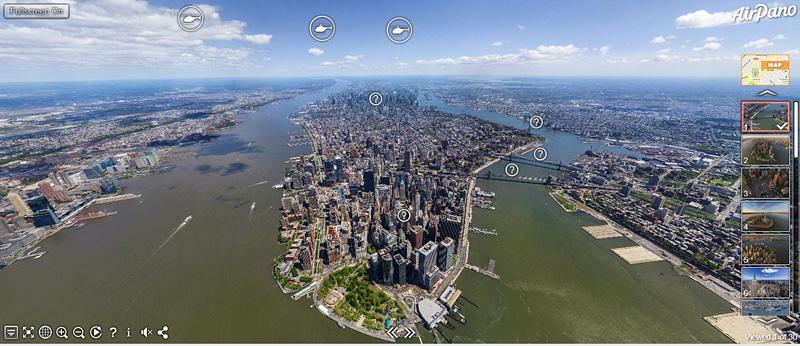 New York vu du ciel avec Air Pano