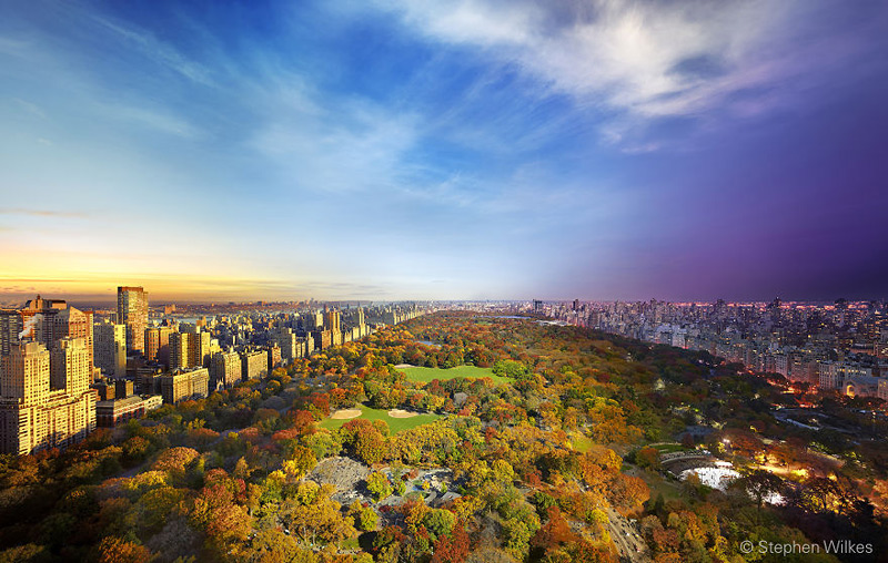 Central Park vu de l'Essex House, New York