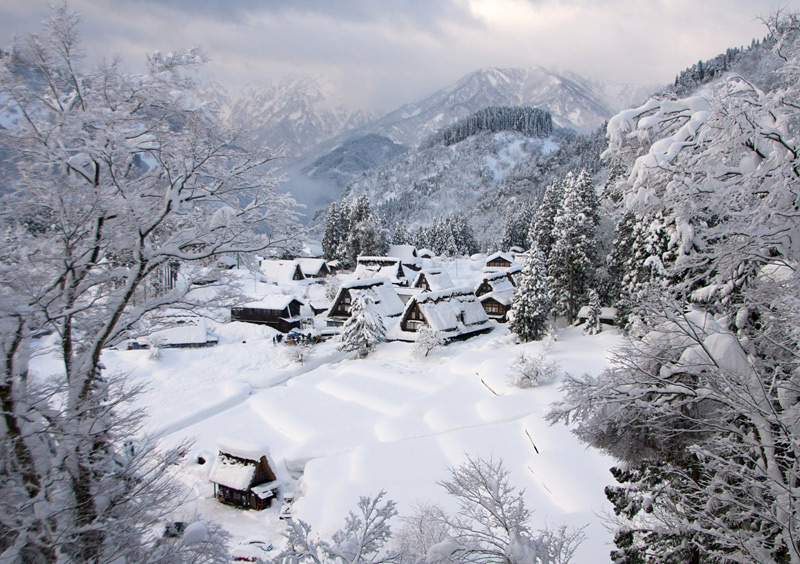 Nakayama, village au Japon