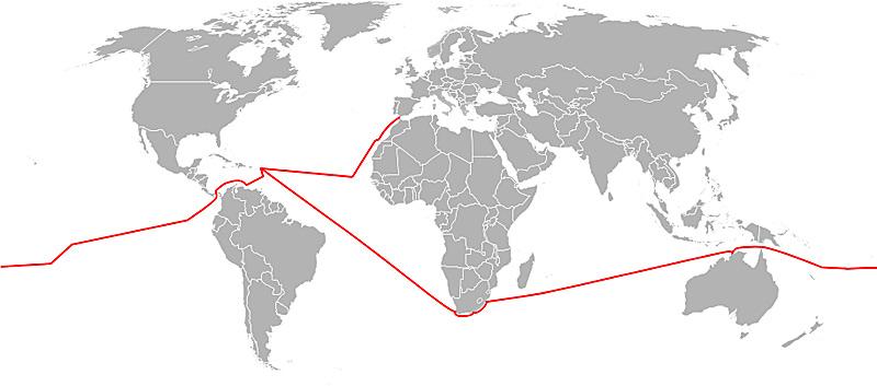 parcours maritime de Laura Dekker
