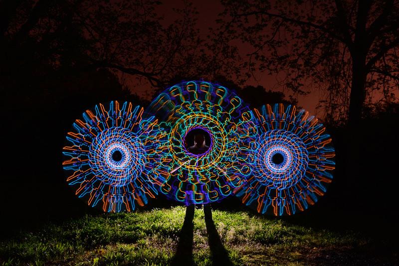 Peinture de lumière de Wes Whaley