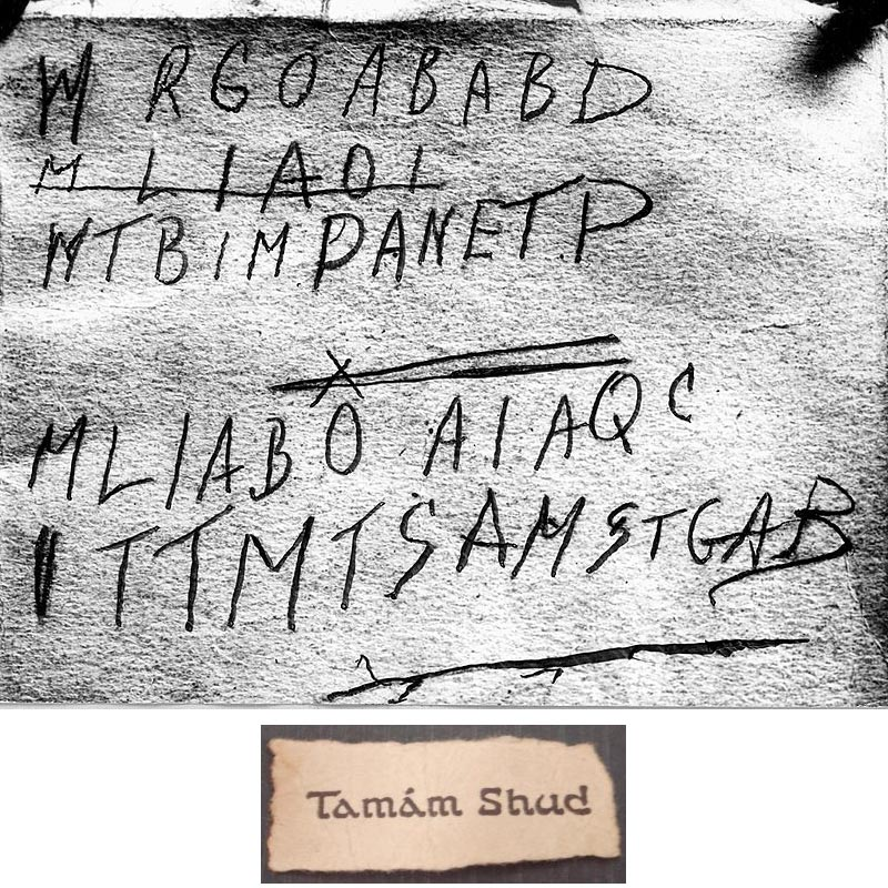 Mystère de l'homme de Somerton, affaire Taman Shud