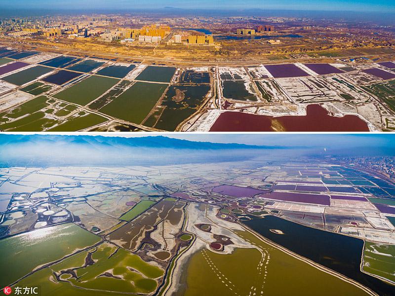 lac salé à Yuncheng en Chine