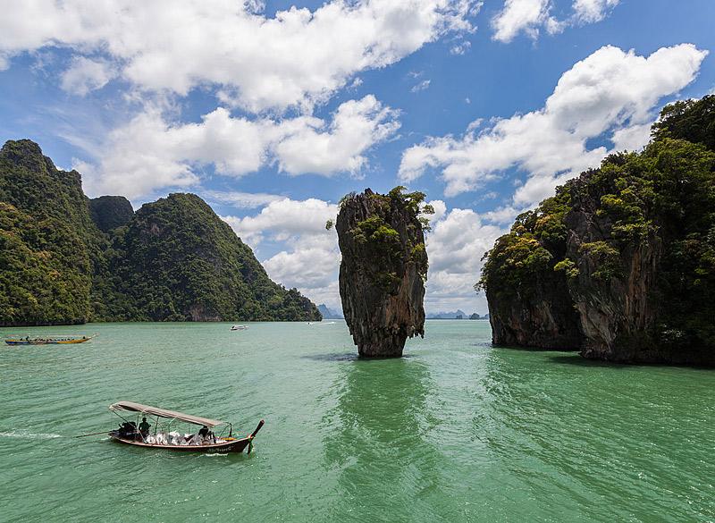l'îlot Ko Tapu en Thaïlande