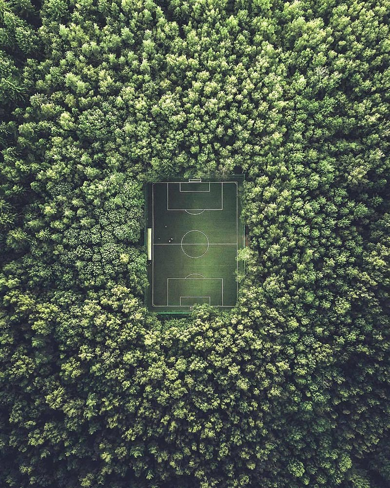Terrain de football à Moscou
