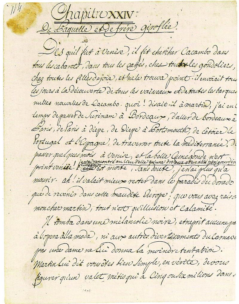 Manuscrit d'écrivain