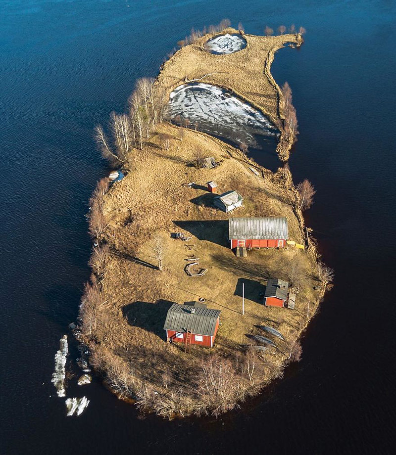 Île Kotisaari en Finlande