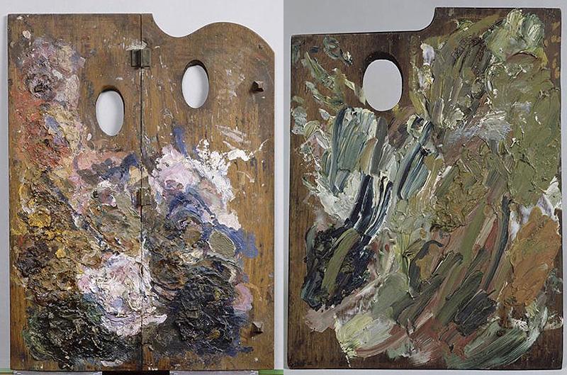 palette des peintres Paul Gaughin et Vincent Van Gogh