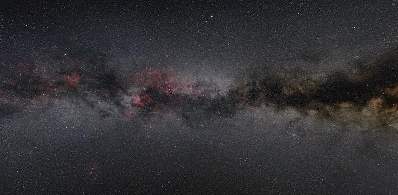 vue du ciel et de l'espace
