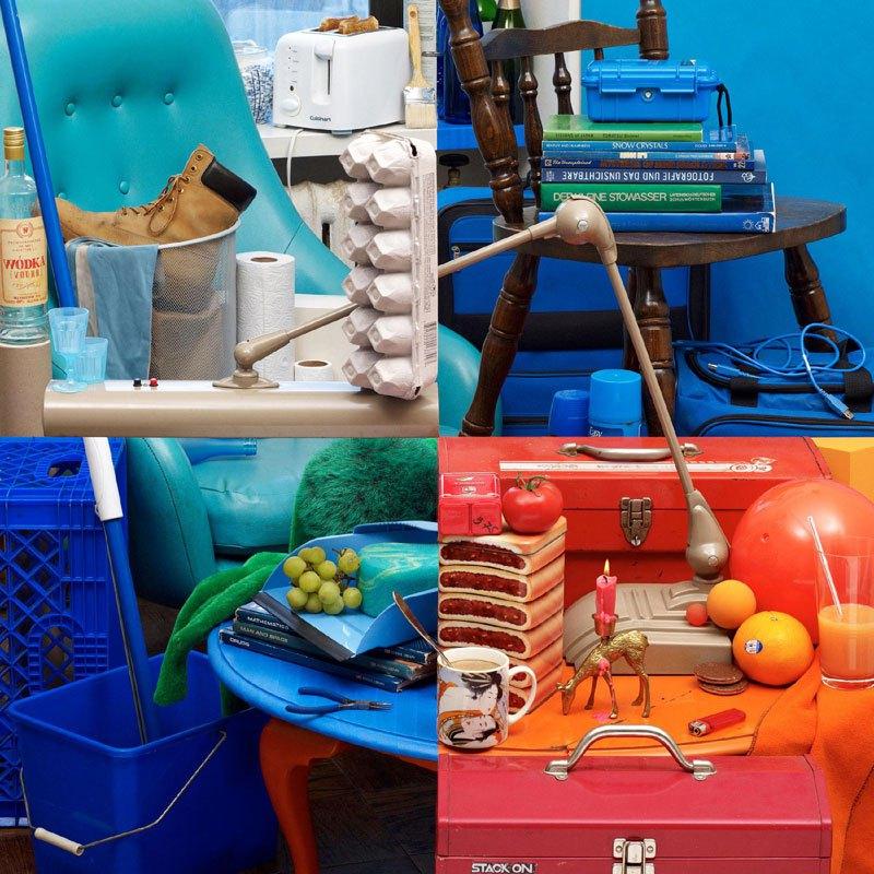 illusion de quatre images dans une photographie