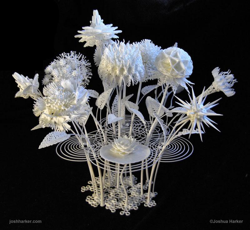 bouquet de fleur en 3d
