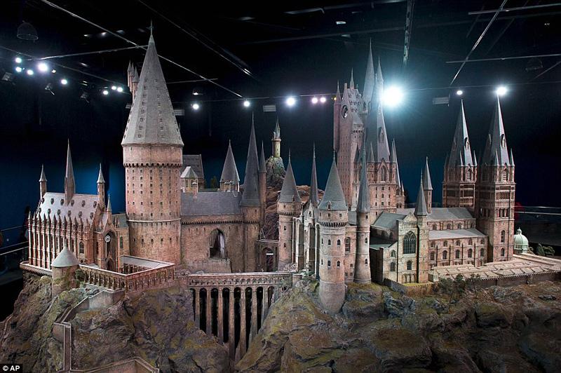 maquette du château de Poudlard dans Harry Potter
