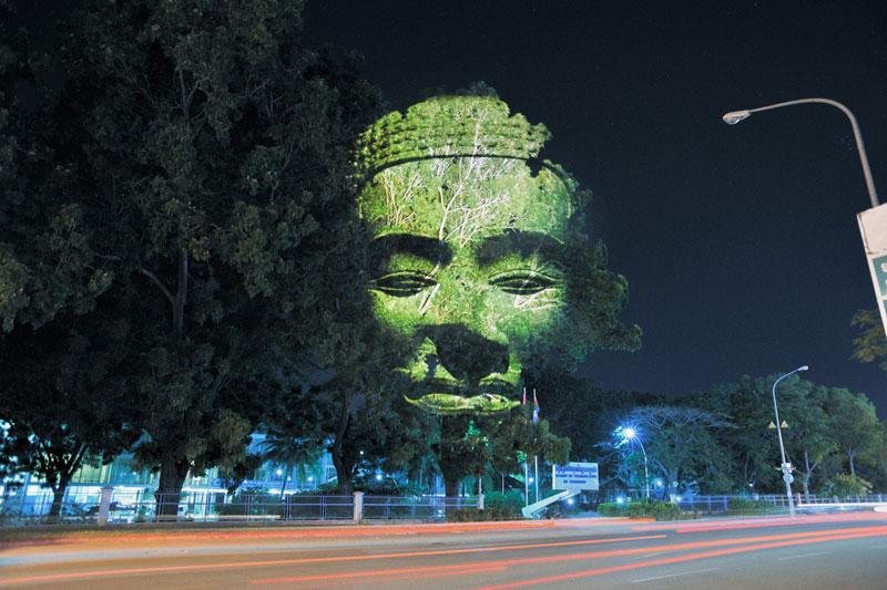 Projection d'images en 3D dans les arbres
