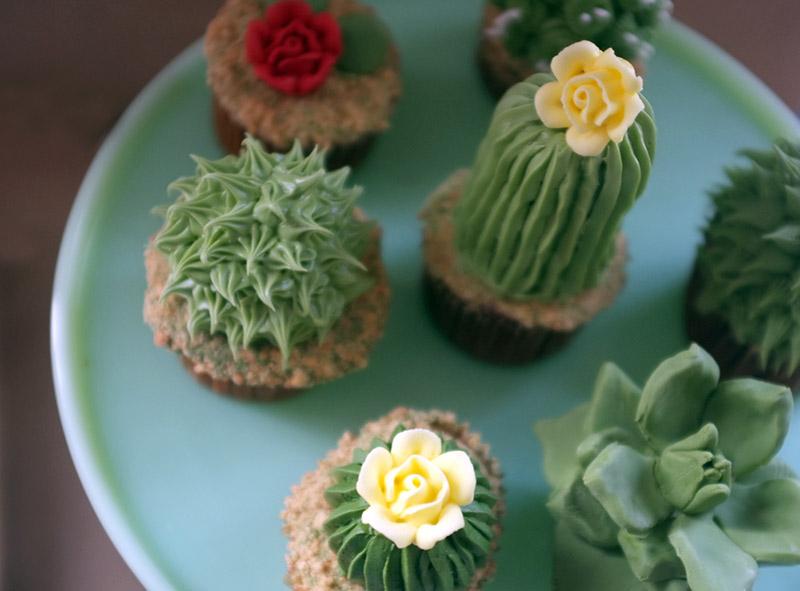 gâteau en forme de cactus