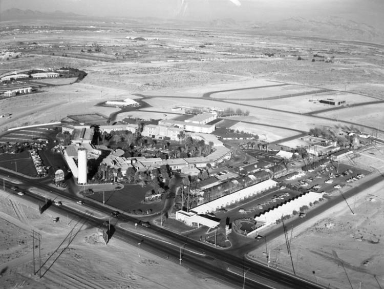 Las Vegas vu du ciel en 1959