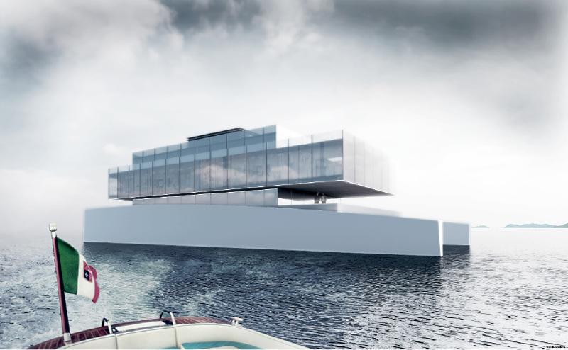 Yacht de luxe cubique