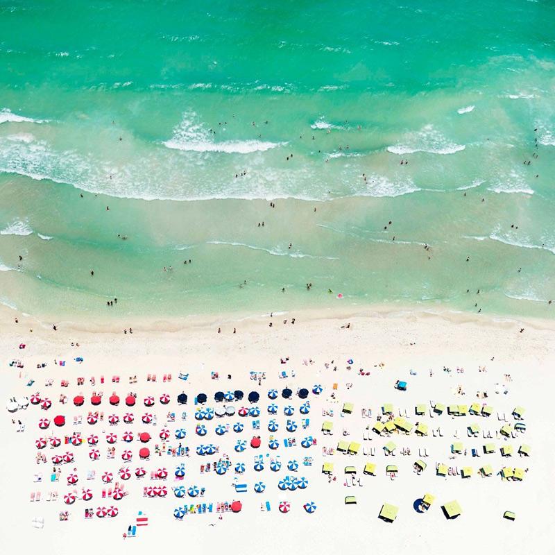plage de Miami vue du ciel