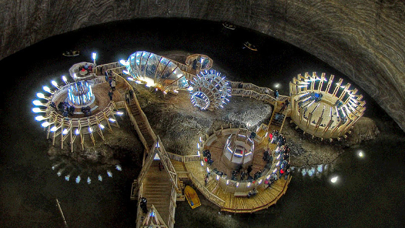 mine de sel Salina Turda reconvertie en attraction touristique