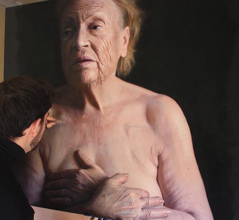 peinture de portrait hyper réaliste
