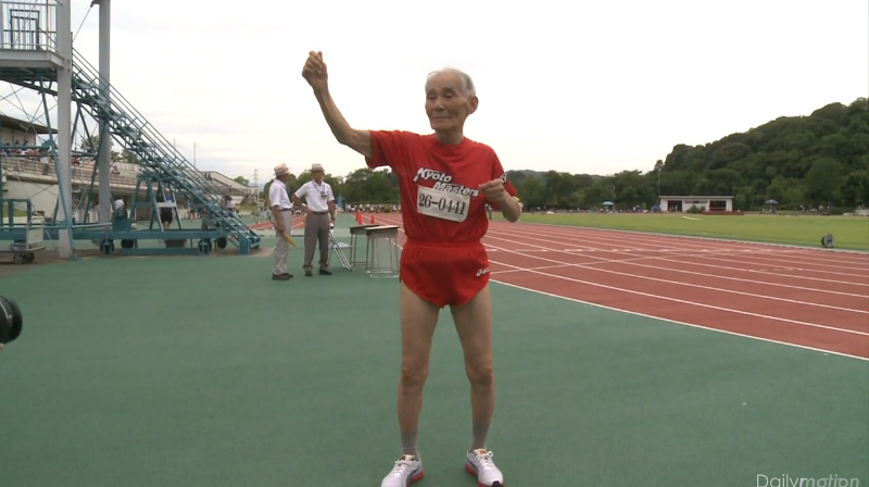 Hidekichi Miyazaki, sprinter japonais de 103 ans