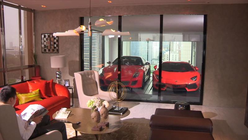 garage dans l'appartement