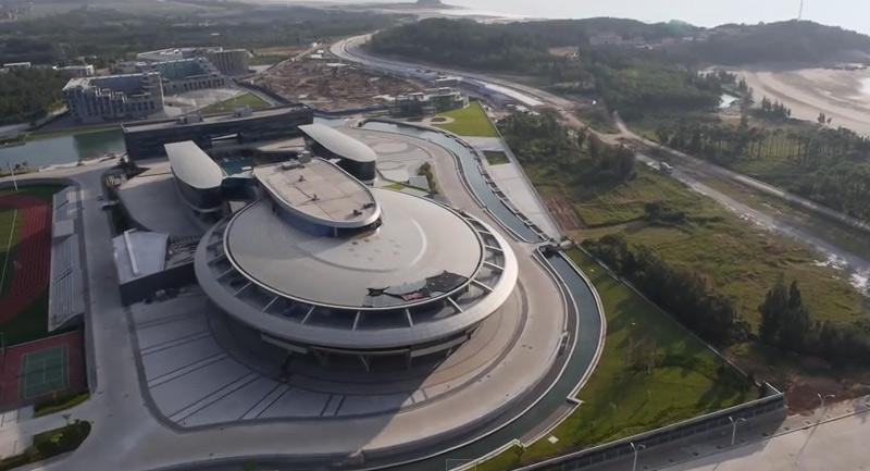 bâtiment en forme de vaisseau de Star Trek