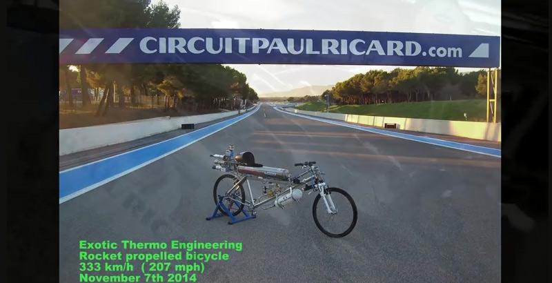 Record du monde de vitesse en vélo à propulsion