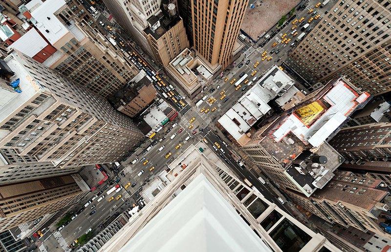 Rues de New York vue du dessus