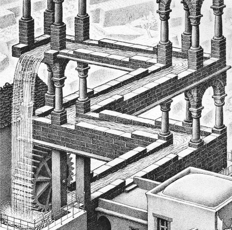 Représentation de construction impossible par M.C. Escher
